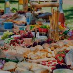 The ultimate herb-filled food picnic platter